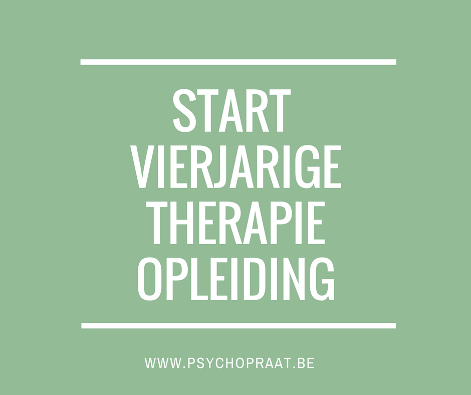 De kogel is door de kerk: ik start in september een vierjarige therapie-opleiding!