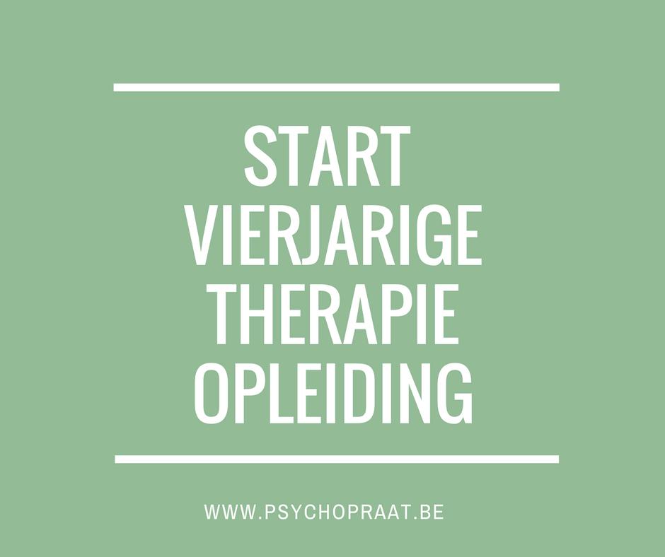 Start vierjarige therapie-opleiding