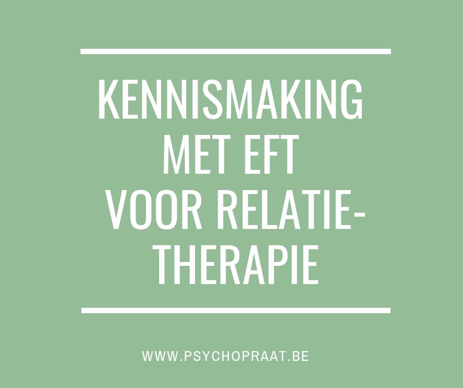 Kennismaking met EFT voor relatietherapie
