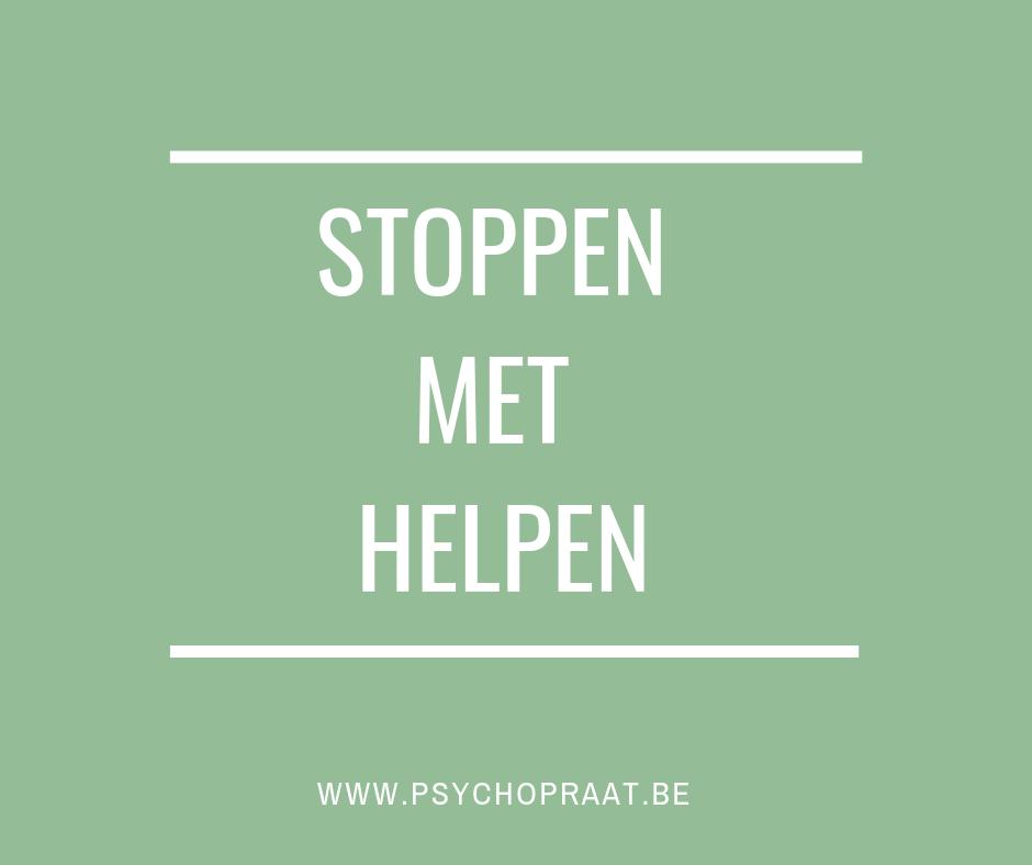 stoppen met helpen