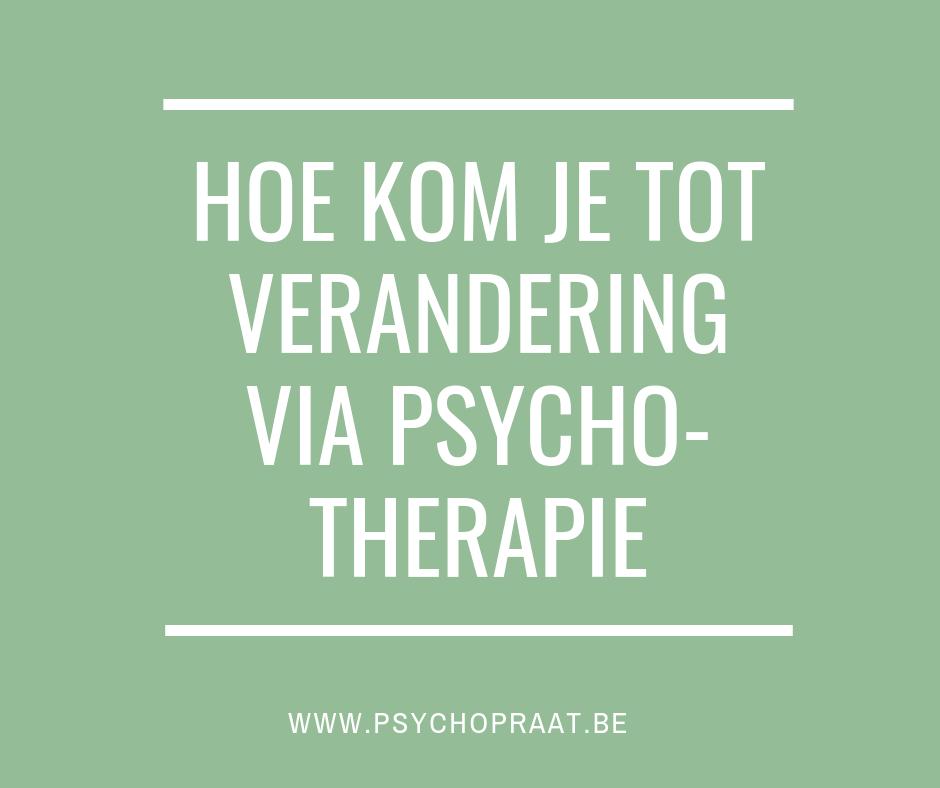 verandering via psychotherapie